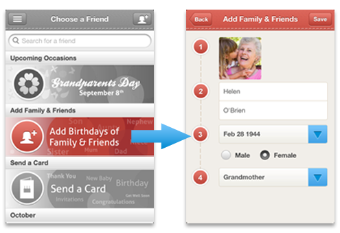Add birthdays of Family & Friends