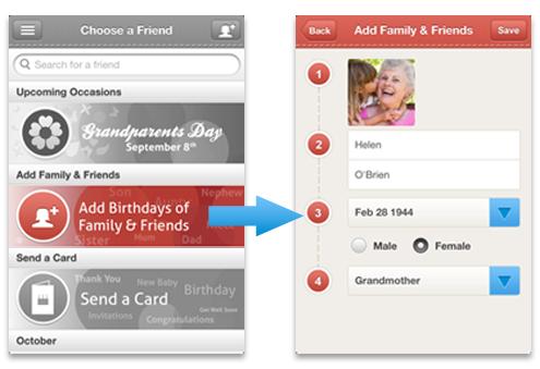 Add birthdays of Family & Friends